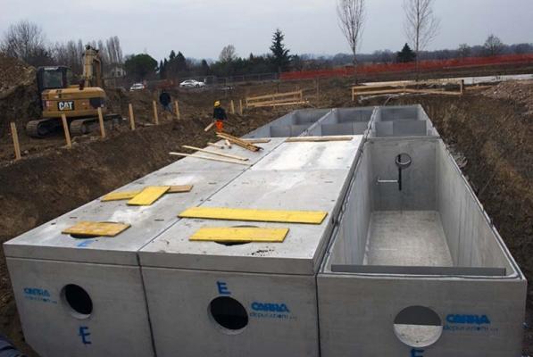 Cisterne per acqua piovana in cemento armato METEOTANK MT-PL di Carra Depurazioni
