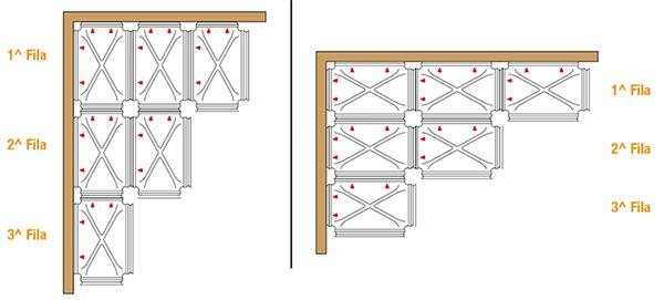 Schema di posa degli igloo per vespai Granchio di Project for Building