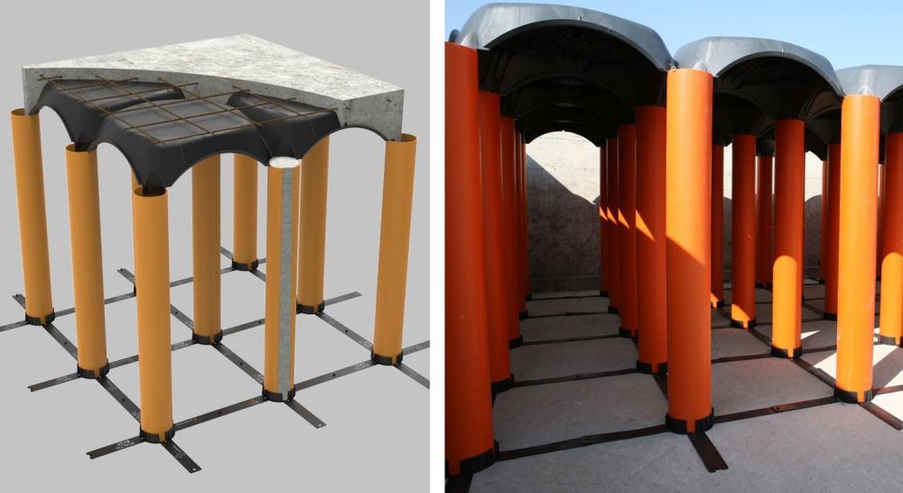 Sistema per vespai ventilati Cupolex Rialto di Pontarolo Enrineering