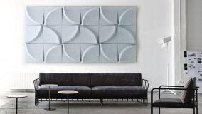 Nuove pareti fonoassorbenti: comfort acustico bello da vedere