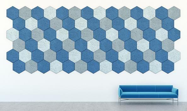 Piastrelle fonoassorbenti modulari Diagonal Lines di Baux