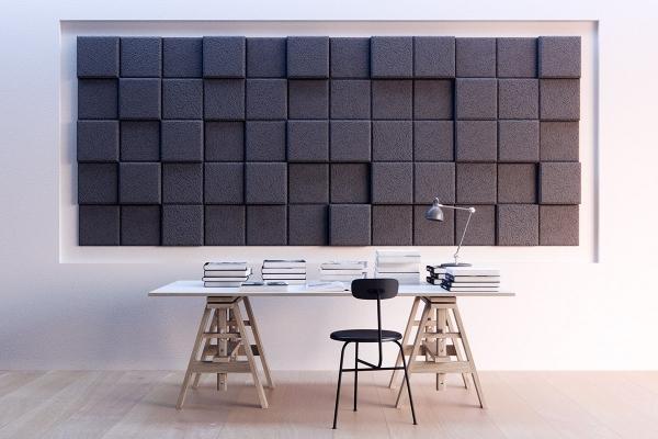 Pannelli fonoassorventi modulari e tridimensionali Wood Wool 3D pixel di Baux