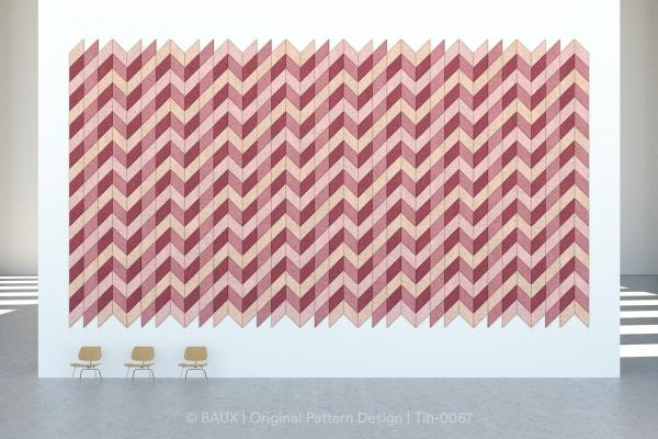 Piastrelle fonoassorbenti modulari Diagonal Chevron di Baux