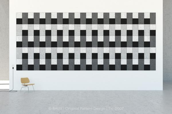 Piastrelle fonoassorbenti modulari Lines di Baux