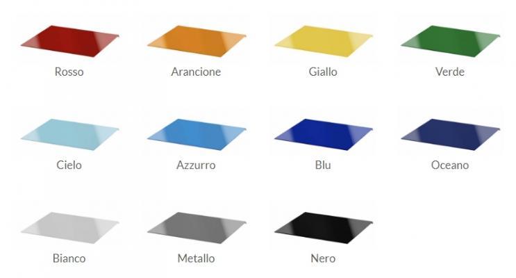 Palette di colori della pedana doccia Vetro Color di Silverplat