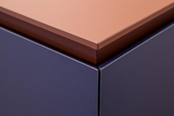 Particolare dei nuovi colori Fenix NTM Bloom per i mobili da cucina