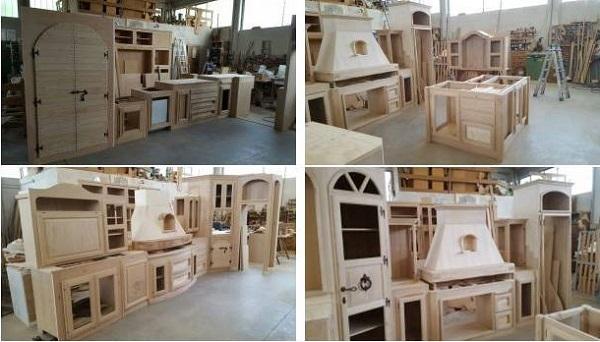 Il laboratorio di Fonte del Rustico per le sue cucine in vera o finta muratura