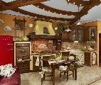 Fonte del Rustico, cucina in finta muratura mod. Camilla del Borgo