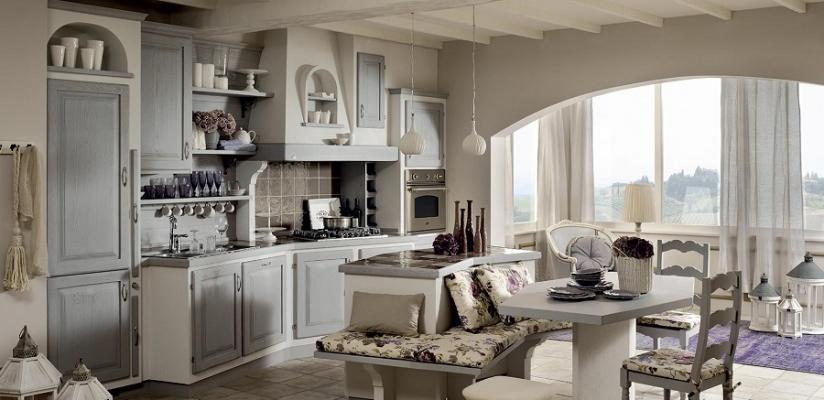 La cucina in muratura colore grigio Giulietta Sogno, Zappalorto
