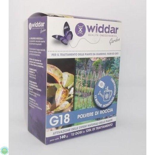Polvere di roccia per il trattamento delle piante con G18 di Widdar su Agraria Comand