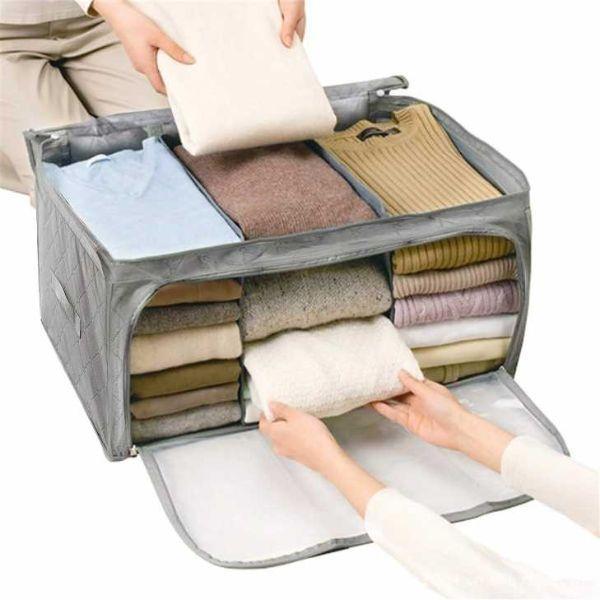 Contenitore dove riporre le magliette piegate