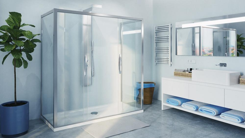 Trasformazione della vasca in doccia con  Remail