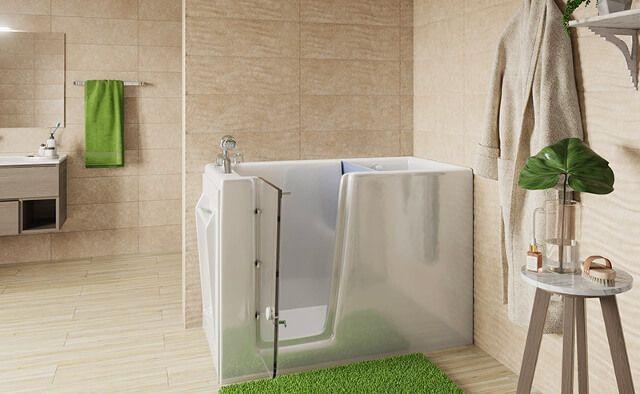 Vasca da bagno con apertura laterale Remail