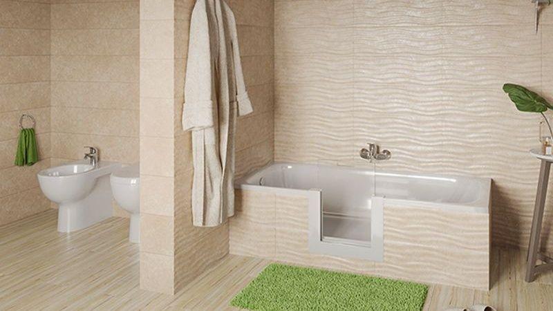 Vasca da bagno con sportello di accesso facile, Remail