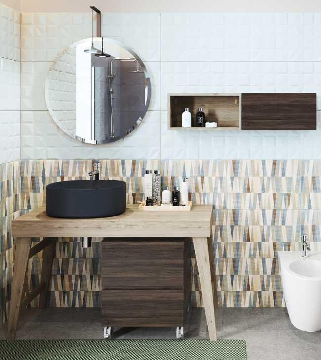 Dettaglio mobile bagno design Wood