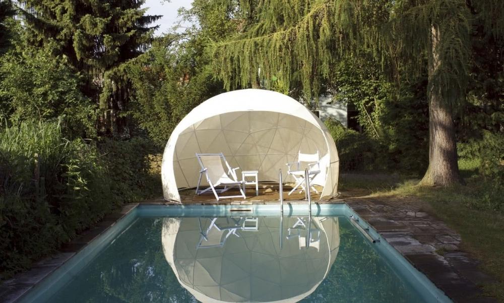 Garden Igloo da giardino con copertura parziale - Design e Foto by Garden Igloo GmbH