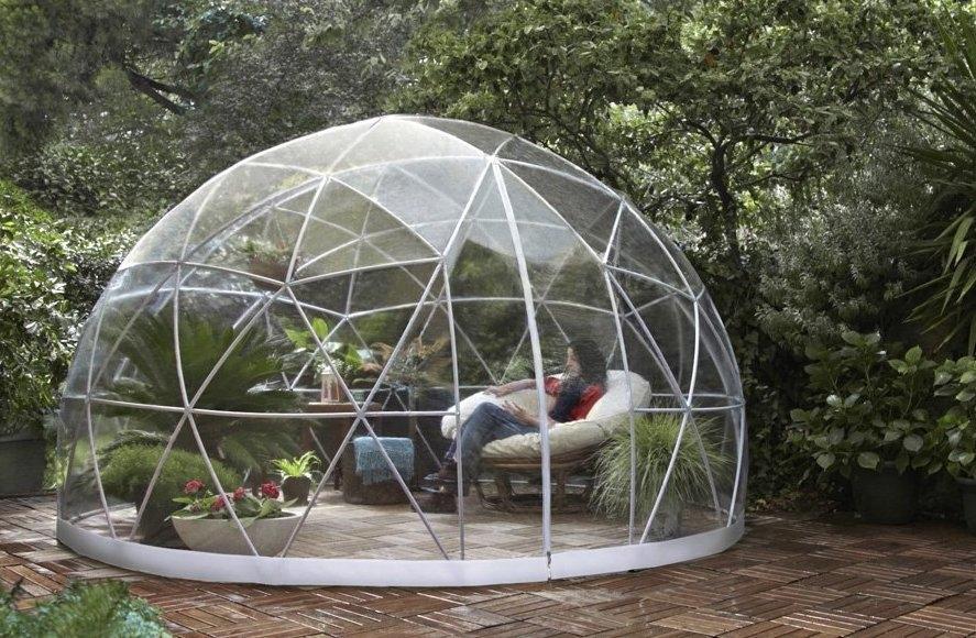 Garden Igloo da giardino bianca e trasparente - Design e Foto by Garden Igloo GmbH