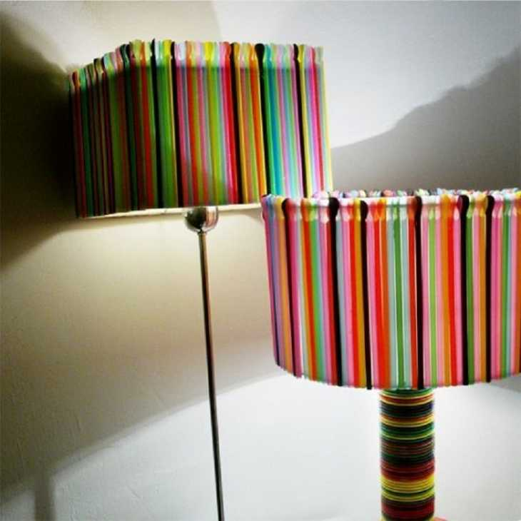Lampade con cannucce, da wonderfulamps.com
