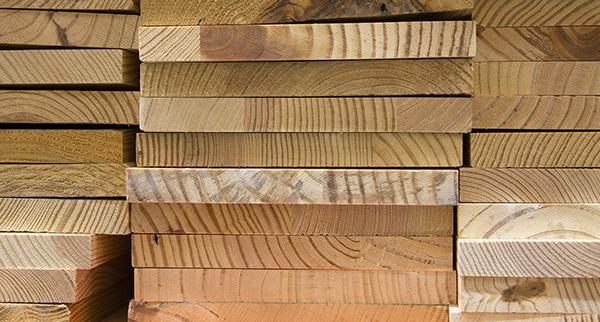 La materia prima del legno lamellare