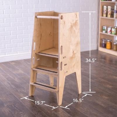 Dimensioni torretta Montessori, da howwemontessori.com