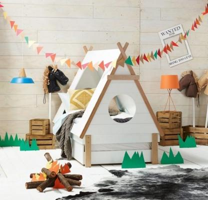 Letto per bambini a forma di capanna - Fonte foto: anews24.info