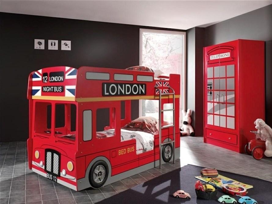 Letto a castello per bambini bus londinese - Fonte foto: anews24.info