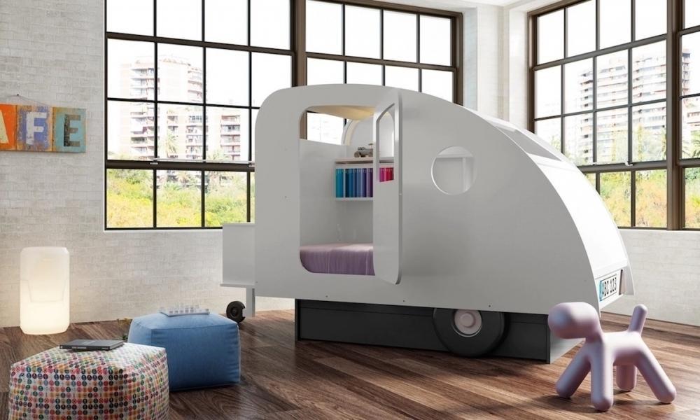 Letto singolo originale, modello Lit Caravane - Design e foto di Mathy By Bols