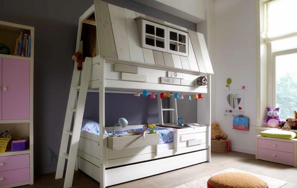 Letto A Forma Di Castello.Foto Letto Singolo Per Bambini