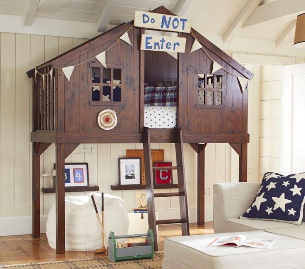 Letto a soppalco casa sull'albero - Progetto e foto by Pottery Barn