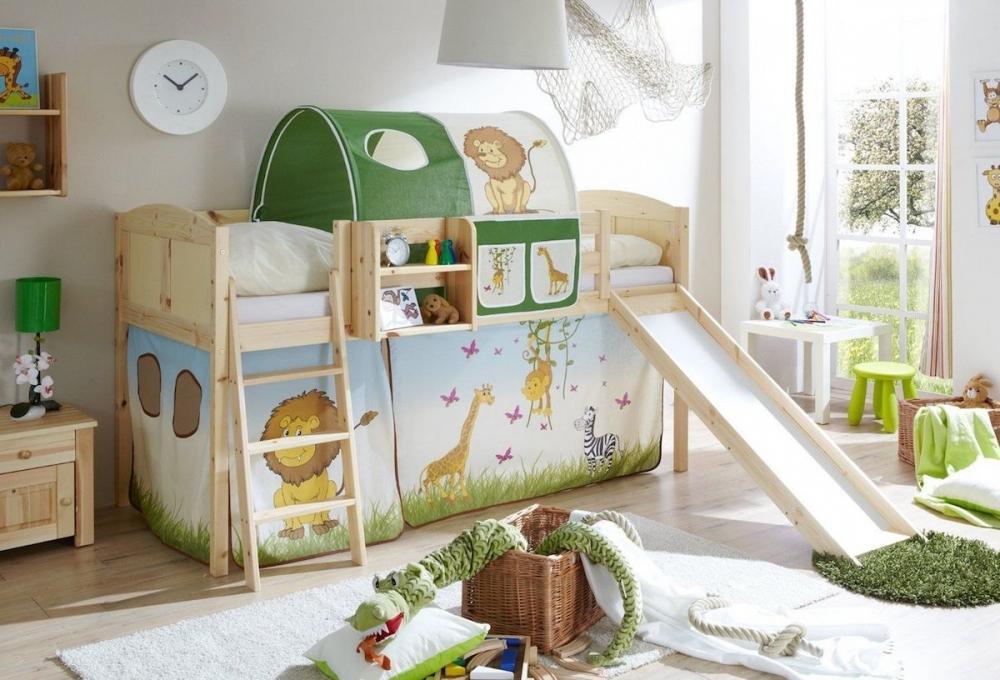 Letti A Soppalco Per Bambini Con Scivolo.Foto Letto Singolo Per Bambini