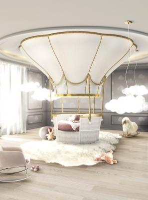 Letto luxury a forma di mongolfiera Fantasy Air Balloon - Design e foto by Circu