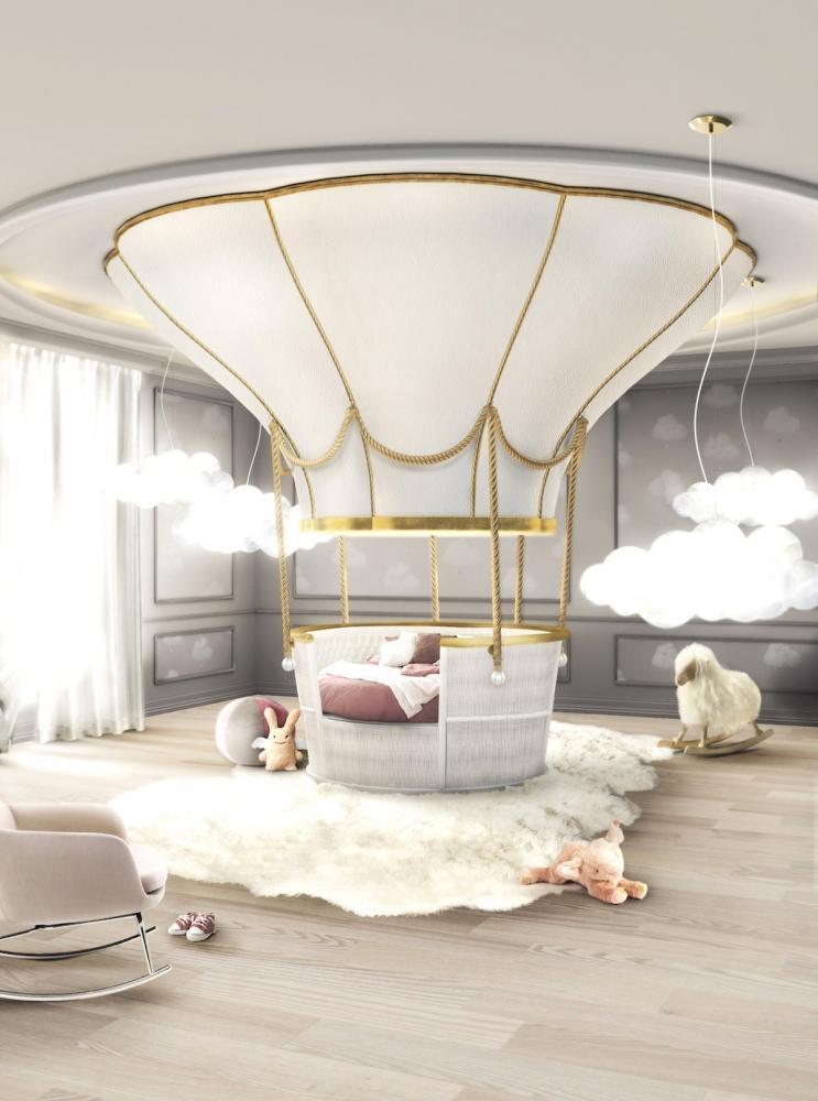 Letto luxury a forma di mongolfiera Fantasy Air Balloon - Design e foto by Circu
