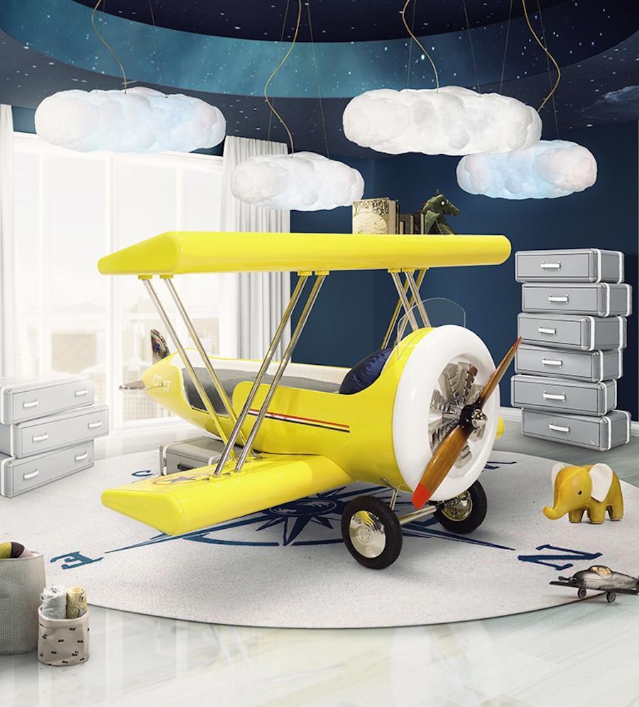 Lettino bimbi a forma di aeroplano Sky B Plane - Design e foto by Circu