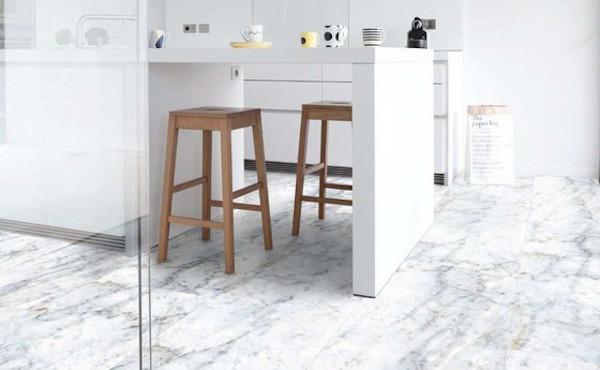 Rivestimenti in PVC effetto marmo - Design e foto by Gerflor