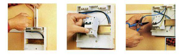Montaggio interruttore magnototermico