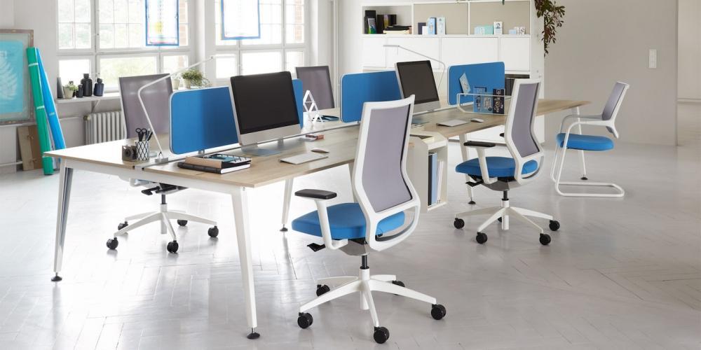 Tavolo di lavoro Get Together per spazi lavoro condivisi, Sedus