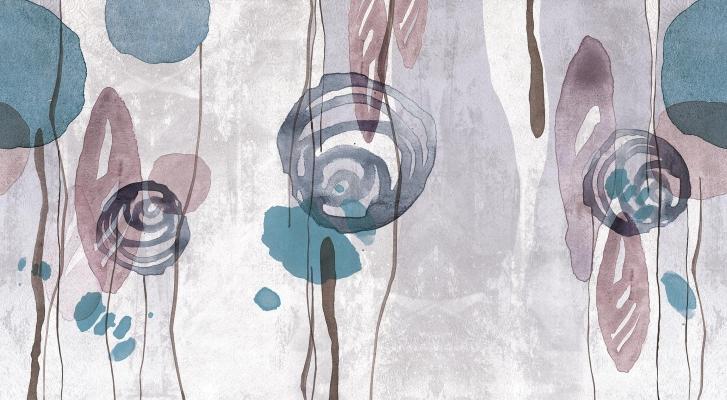 Wallcover Aquerello di Inkiostro Bianco