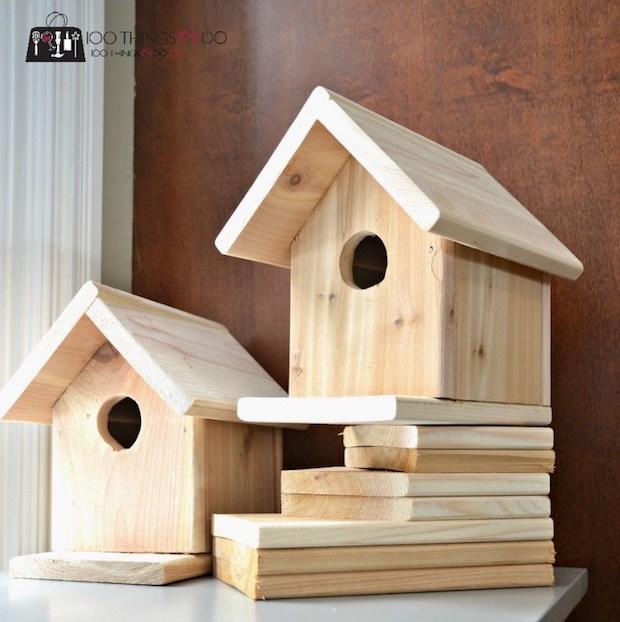 Casetta uccelli in legno, da 100things2do.ca