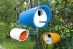 Casette per uccellini in pvc, da instructables.com