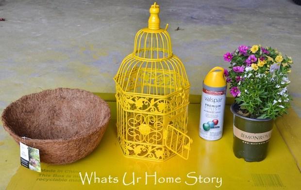 Riciclo gabbie per uccelli in fioriera, parte 1, da whatsurhomestory.com