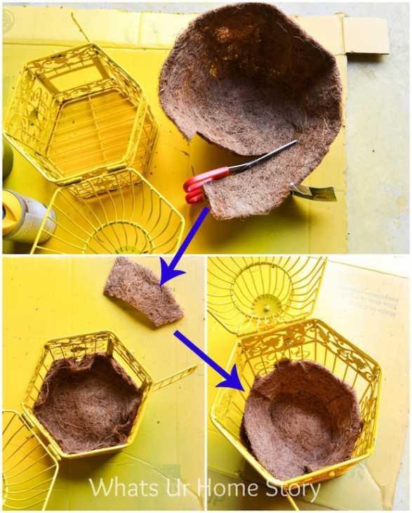 Riciclo gabbie per uccelli in fioriera, parte 2, da whatsurhomestory.com