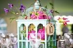 Gabbia per uccelli come centrotavola, da stylelovely.com