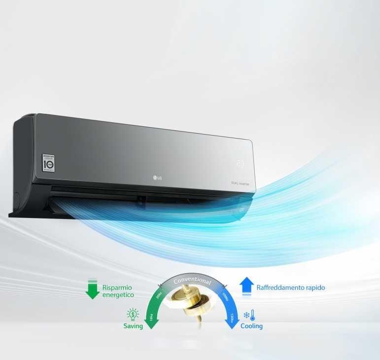 Condizionatore a risparmio energetico LG ARTCOOL