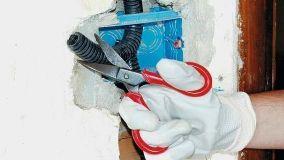 Impianto elettrico con canaline sottotraccia