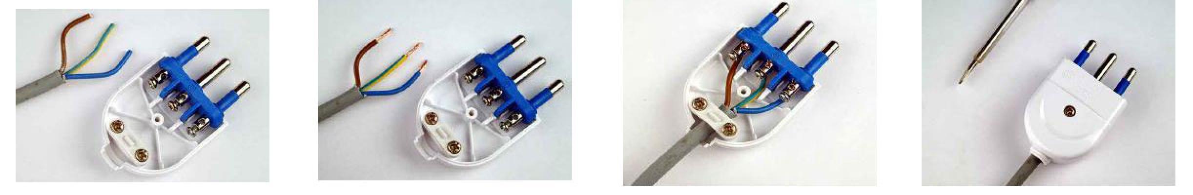 Passaggi per la sostituzione della spina o del cavo