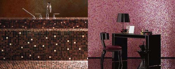 Mosaico in bagno e nel living, Bisazza Miscele 20