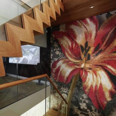 Casa ad Amsterdam, rivestimento in mosaico by Bisazza