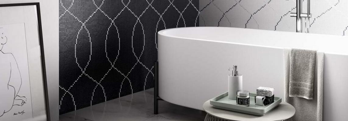 Bagno rivestito con mosaico Round, Mosaico+