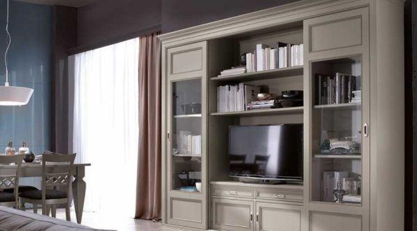 Parete soggiorno stile classico modello Contessa di Centro Veneto del Mobile