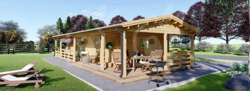 Casa prafabbricata in legno per vacanze, di Pineca